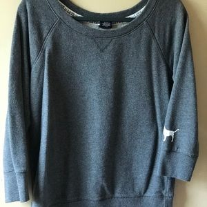 Victoria Secret PINK 3/4 length sleeve grey Sweat